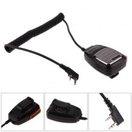 2 Pin PTT Handheld Speaker Mic Microphone for Baofeng Kenwood TYT Radios