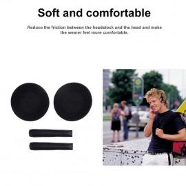 1 Pair Earpads wHeadband Cushions for Sennheiser PX100 PX200Black