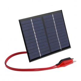 1.5W 12V Solar Cell Polysilicon Flexible DIY Solar Panel Power Bank wClip