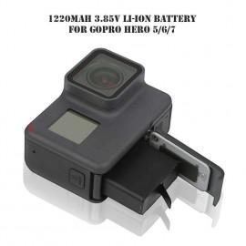 1220mAh 3.85V Li-ion Battery for Gopro Hero 5 6 7 BT-501 AHDBT-501 Black